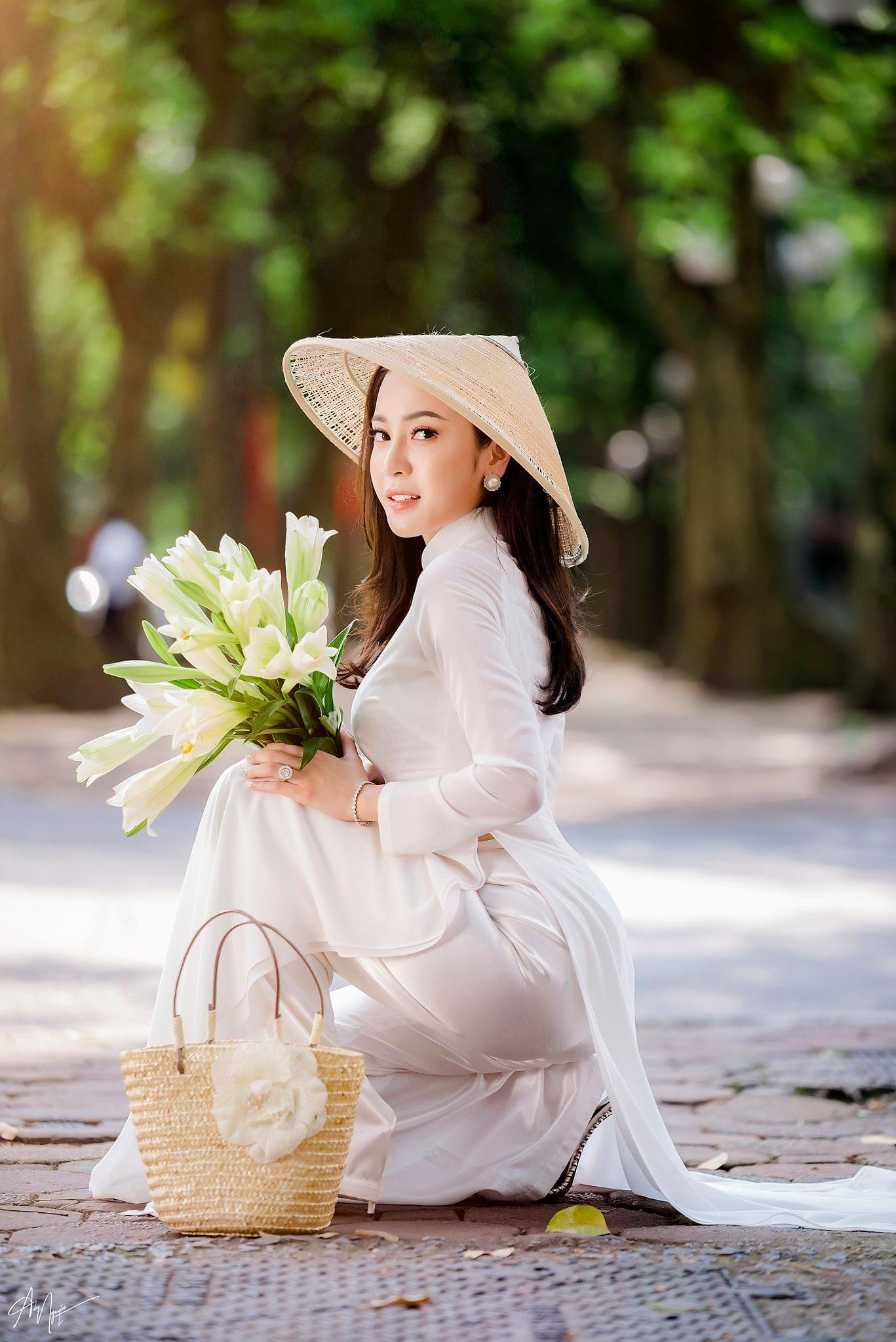 Tuyển tập girl xinh gái đẹp Việt Nam mặc áo dài đẹp mê hồn #57 - 16