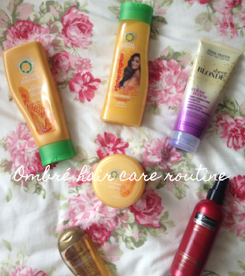 Ombré hair care routine and products