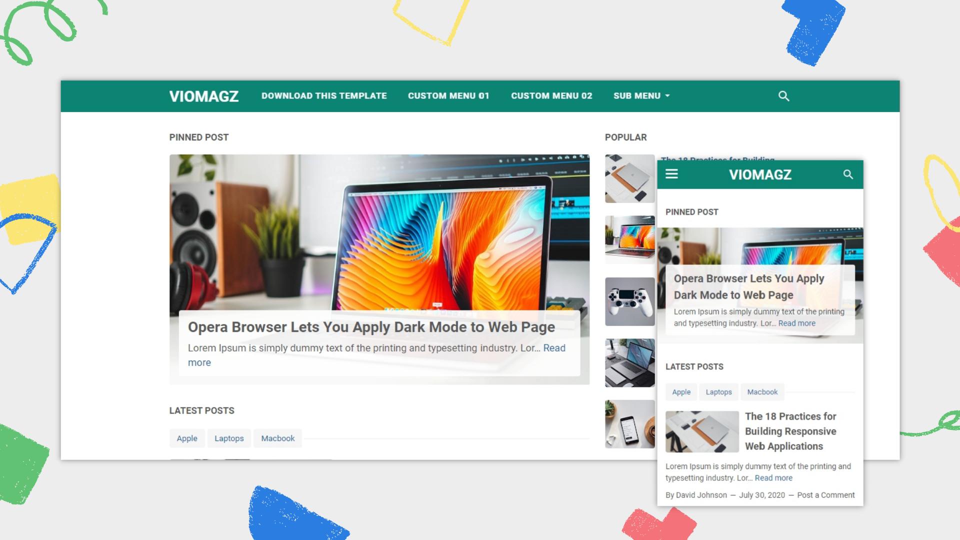 viomagz-v460-premium-blogger-template