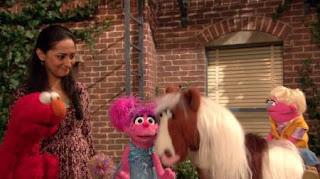 Elmo, Leela, Judy, Abby Cadabby, horse, Sesame Street Episode 4419 Judy and the Beast season 44