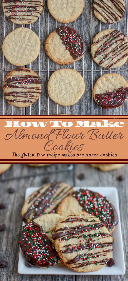 Almond Flour Butter Cookies #desserts #cakerecipe #chocolate #fingerfood #easy