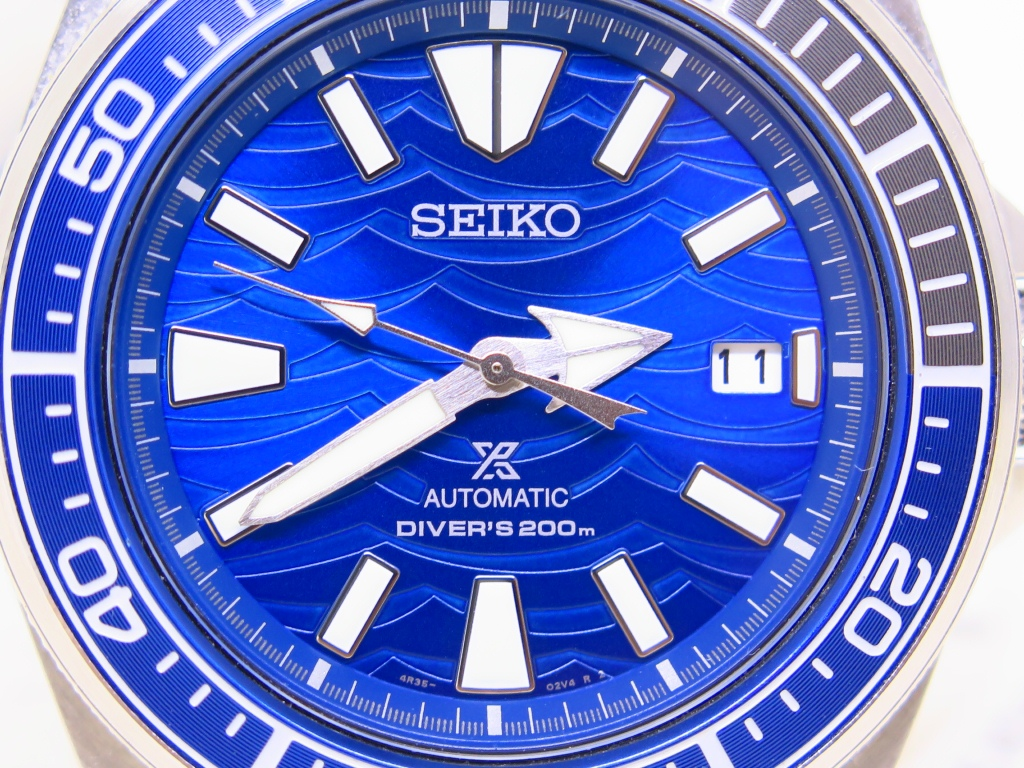 SEIKO SAMURAI BLUE DIAL SAVE THE OCEAN SRPD23K1 - AUTOMATIC 4R35 - SPECIAL EDITION - VERY MINT COND