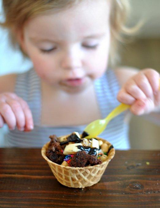 build your own ice cream sundae bar
