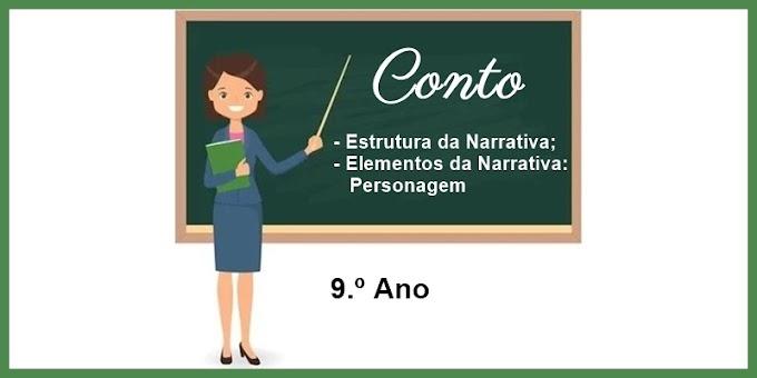 Estrutura e Elementos da narrativa - Conto - 9.º Ano - Aula 07 - Dia 26/03/21
