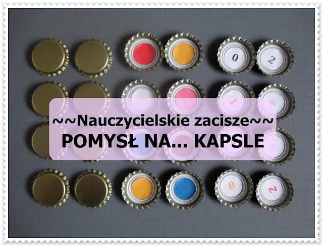 KAPSLE - memory, wędka na magnes