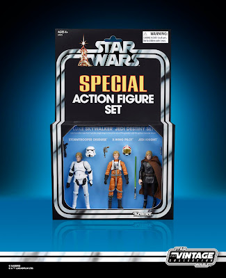 San Diego Comic-Con 2019 Exclusive Star Wars Vintage Collection Luke Skywalker Jedi Destiny Action Figure Set by Hasbro