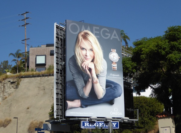 Omega Ladymatic watch Nicole Kidman billboard Sunset Strip