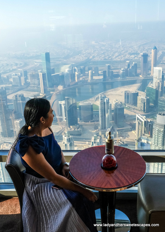 view of Dubai Canal from Atmosphere Burj Khalifa