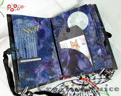 Lisa Hoel for Eileen Hull – Day & Night reversible junk journal  #eileenhull #eileenhulldesigns #eileenhullsizzix #ehinspirationteam #eheducators #Sizzix #mymakingstory #diecutting