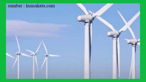 kincir angin dapat memutar turbin yang akan menghasilkan listrik