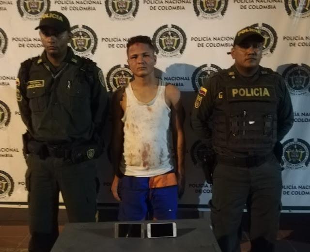 Venezolano tenía azotado el centro de Maicao robando celulares