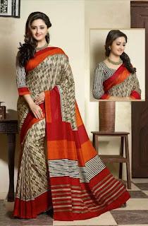 Foto Foto / Gambar Rashami Desai menggunakan Kain Sari / Baju Tradisional India