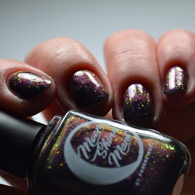 purple multichrome nail polish swatch