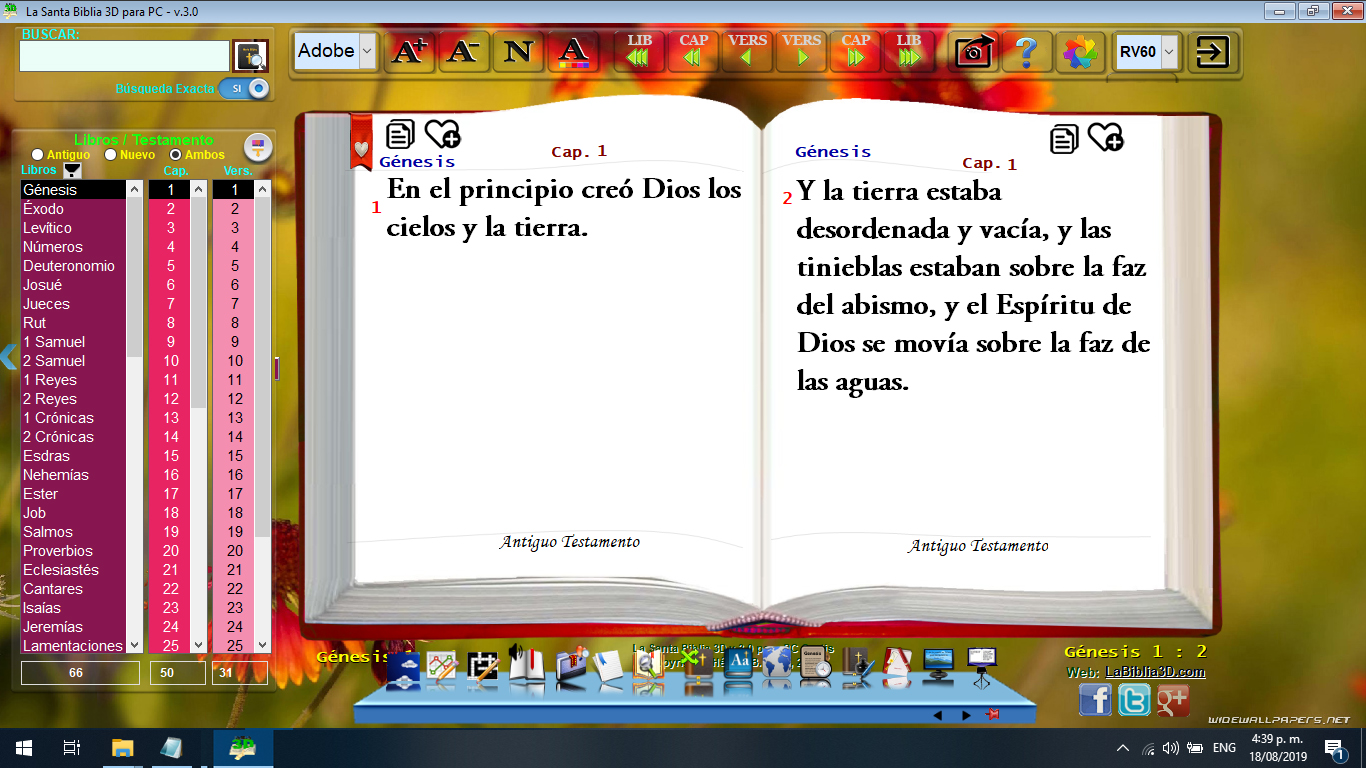 La Santa Biblia 3d Para Pc Celulares Tabletas Español Inglés