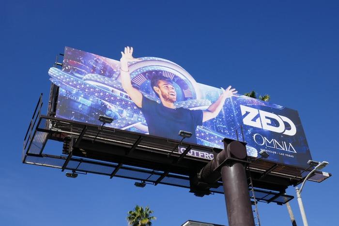 Zedd Omnia 2020 Vegas billboard