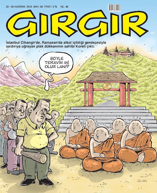 Gırgır Dergisi - 22-28 Haziran 2016 Kapak Karikatürü
