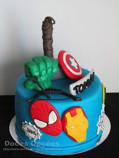 os vingadores bolo