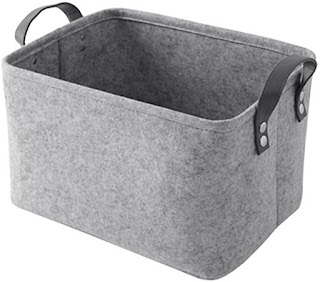 Amazon grey felt basket