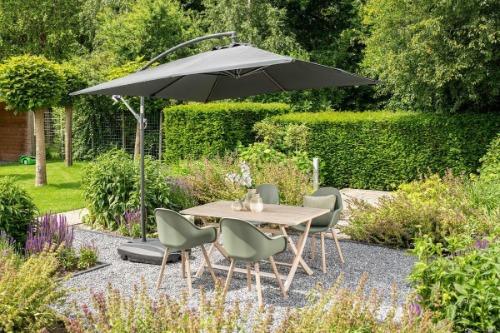 Vierkante zweefparasol Garden Impressions