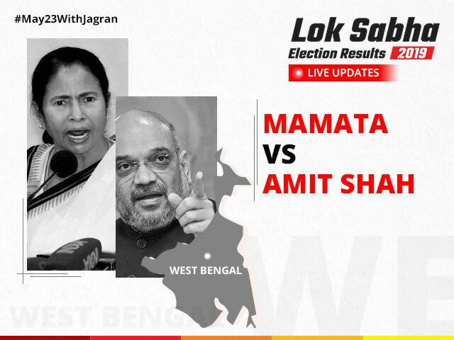 West Bengal Lok Sabha Election Result 2019: Get live updates about WB Election Result 2019 and know party-wise, constituency wise and candidate wise UP Election Results 2019. And also find constituency wise 2019, 2014 Lok Sabha Election Results 2019 for West Bengal    West Bengal Lok Sabha Election 2019, West Bengal General election 2019, West Bengal Lok Sabha results, West Bengal Election 2019, West Bengal Parliamentary Voting Results, WB General election 2019, BJP, Mamata Banerjee, Trinamool Congress, Amit Shah, BJP result in West  Bengal, BJP in Bengal, BJP leading in Bengal, Bengal Election Result 2019, West Bengal Verdict
