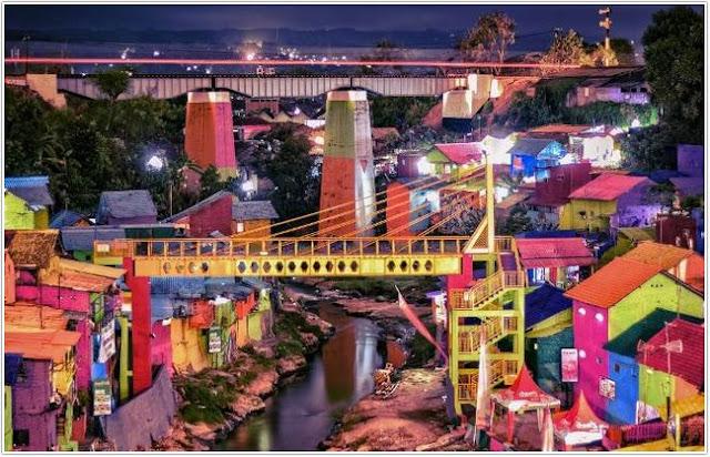 Kampung Warna Warni Jodipan;10 Top Destinasi Wisata Malang;