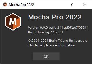 Boris FX Mocha Pro 2022 v9.0.0 Build 241