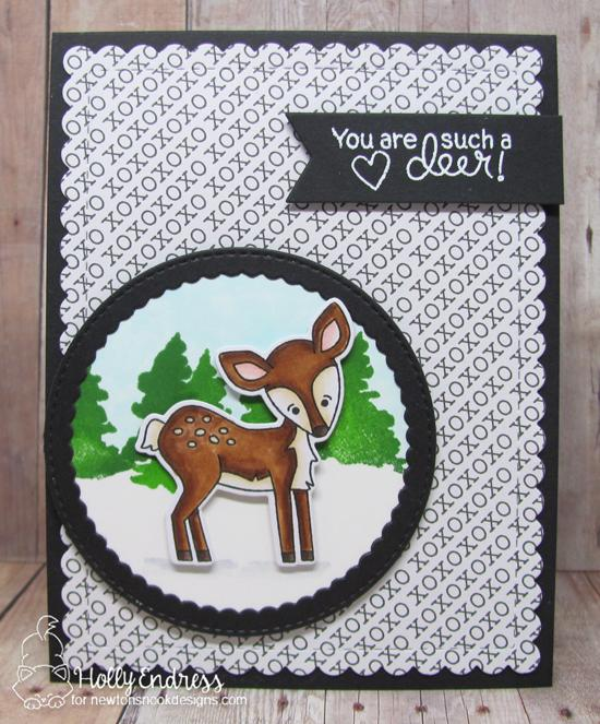 Fawn card by Holly Endress | Deer Friend Stamp Set by Newton's Nook Designs #newtonsnook #handmade