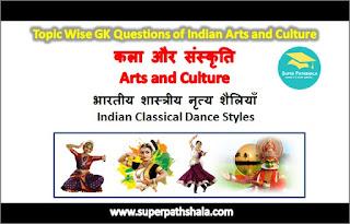 भारतीय शास्त्रीय नृत्य शैलियाँ GK Questions Set 1