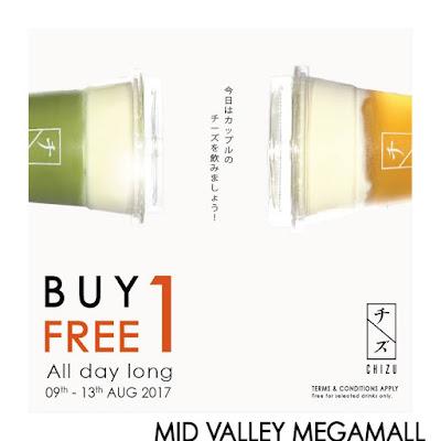 CHIZU DRINK Buy 1 Free 1 Beverage Promo
