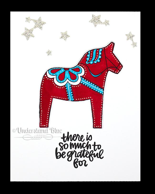 Dala Horse card by Understand Blue