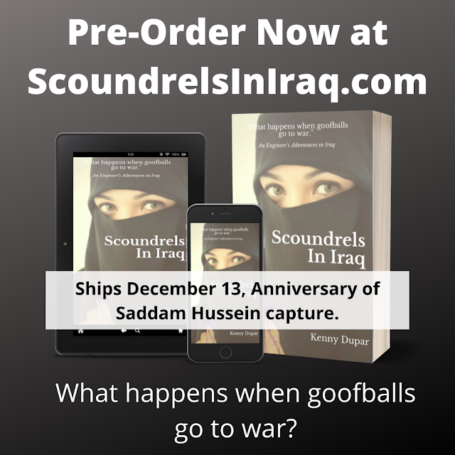 Newest Author... Scoundrels In Iraq by Kenny Dupar