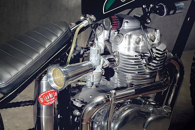 Honda CB360 By Pop Bang Classics Hell Kustom