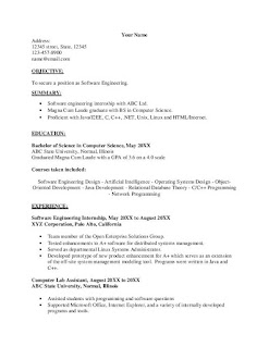 Computer Science Internship Resume Objective