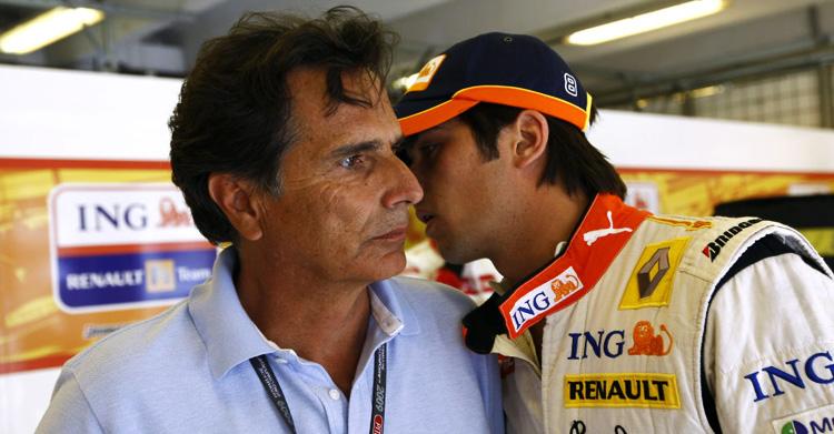 Nelson Piquet padre e hijo hablan en Renault en 2009