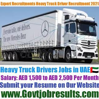 Expert Recruitments Heavy Truck Driver Recruitment 2021-22