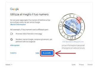 Creare Account Gmail Screen 6