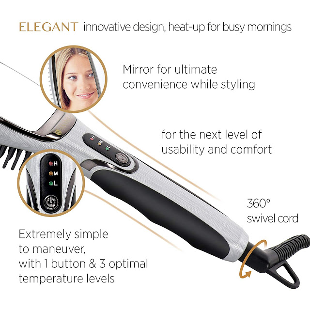 Asavea Hair Straightening Brush Simple to use Controls