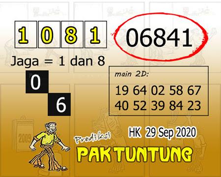Prediksi Pak Tuntung Hk Selasa 29 September 2020