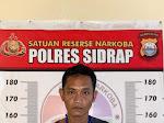 Miliki Satu Ball Sabu, Residivis Narkoba di Sidrap Dibekuk Polisi