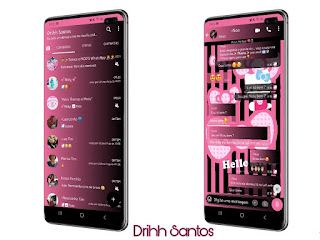 Hello Kitty Theme For YOWhatsApp & Fouad WhatsApp By Driih Santos