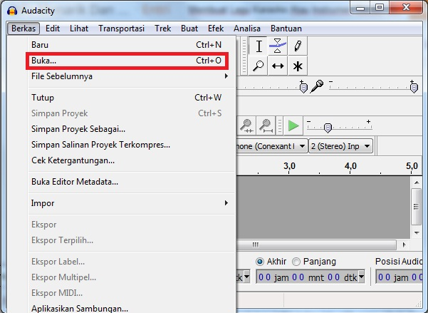 Haris Prasetyo Site Membuat Lagu Karaoke Atau Instrumen Sendiri Dengan Software Audacity
