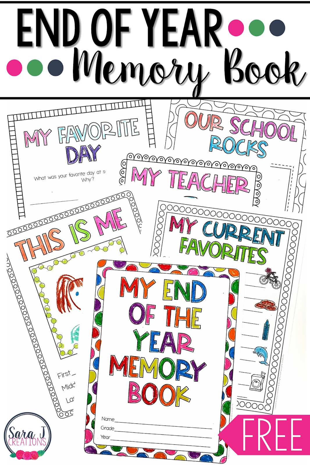 Try out this free printable memory book to help your students reflect on their year. Perfect for the last week of the school year before they are ready for summer!!!