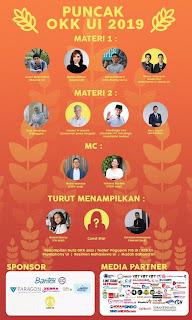 """Orientasi Kehidupan Kampus Universitas Indonesia 2019 : """" Ragam Asa Tentukan Cita """""""