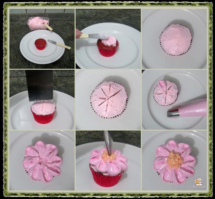 Bolo e cupcake de groselha com beijinho de coco 19