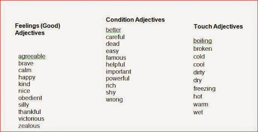 list of adjectives - 687×351