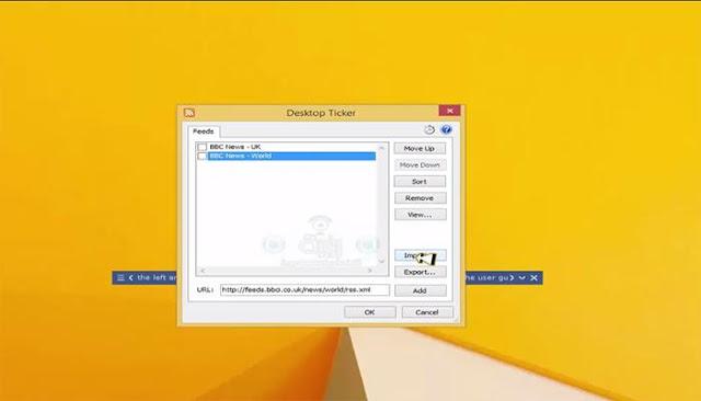 تعرف على طريقة عرض شريط الأخبار الدولية على سطح مكتب الحاسوب 2