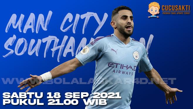Prediksi Bola Manchester City vs Southampton Sabtu 18 September 2021