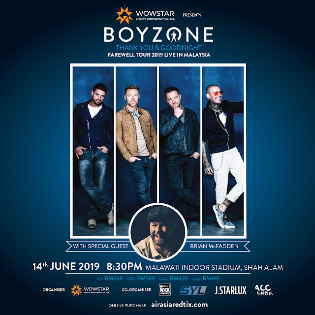 "Boyzone ""Thank you and Goodnight Farewell"" Tour 14th June 2019 @ Malawati Stadium, Shah Alam"