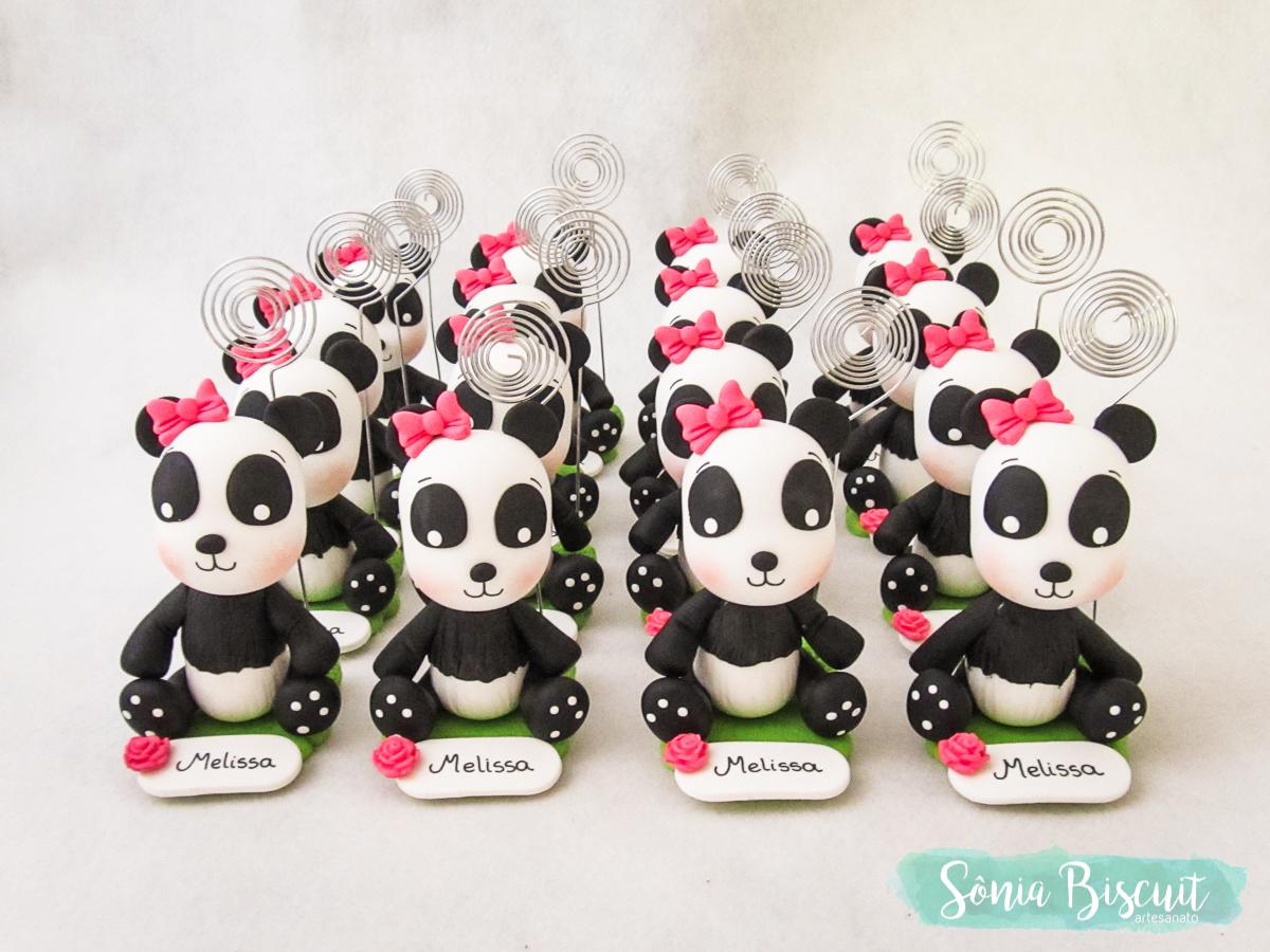 Biscuit, Sonia Biscuit, Topo de Bolo, Panda, Lembrancinhas, Pandinha