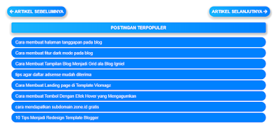 Cara Membuat Widget Popular Post Keren Responsive